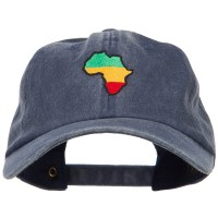 Embroidered Cap - Navy Rasta Africa Embroidered Cap