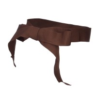 Band - Brown Ribbon Bow Hat Band