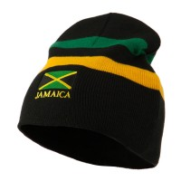 Beanie - Jamaica Natural Rolled Border Beanie | Coupon Free | e4Hats.com