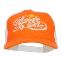Embroidered Cap - Orange White Bride To Be Embroidered Trucker Cap