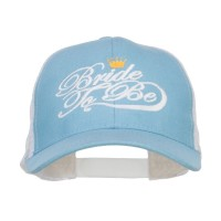 Embroidered Cap - Light Blue White Bride To Be Embroidered Trucker Cap