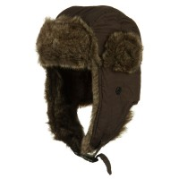 Trooper - Brown Boy's Faux Fur Trooper Hat