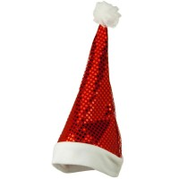 Costume - Red White Red Sequin Santa Hat