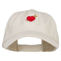 Embroidered Cap - Heart Arrow Embroidered Cap
