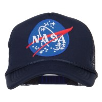 Embroidered Cap - Navy NASA Lunar Patched Trucker Cap | Coupon Free | e4Hats.com
