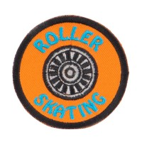 Patch - Orange Roller Skating Fun Patches