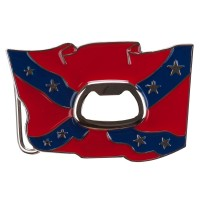 Rebel Rectangular Metal Belt Buckle: Buckle