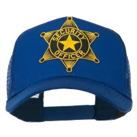 Embroidered Cap - Royal Officer Star Patched Mesh Cap | Coupon Free | e4Hats.com