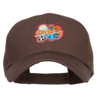 Embroidered Cap - Sports Fun Patched Cotton Cap