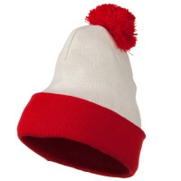 Beanie - Red White Long Beanie for | Free Shipping | e4Hats.com