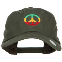 Embroidered Cap - Rasta Peace Embroidered Cap   Free Shipping   e4Hats.com