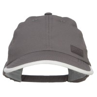 Ball Cap - Grey Cool Dry Soft Bill Performance Cap