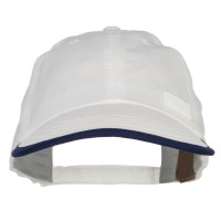 Ball Cap - White Cool Dry Soft Bill Performance Cap