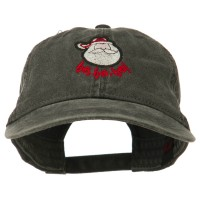 Embroidered Cap - Ho Ho Ho Embroidered Washed Dyed Cap | Free Shipping | e4Hats.com