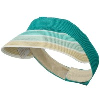 Visor - Turquoise Colorful Striped Brim Visor