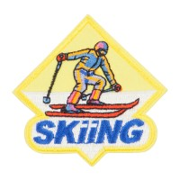 Patch - Skiing Embroidered Patches