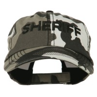Embroidered Cap - City Sheriff Embroidered Camo Cap