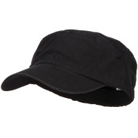 Cadet - Black Big Size Fitted Military Army Cap