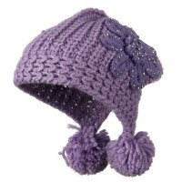 Trooper - Knit Hat Stoned Flower | Free Shipping | e4Hats.com