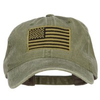 Embroidered Cap - Subdued American Flag Embroidered Cap | Free Shipping | e4Hats.com