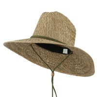 Western - Natural Natural Palm Safe Guard Straw Hat