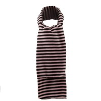 Scarf, Shawl - Pink Black Stripe Stretch Scarf