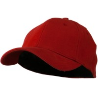 Ball Cap - Red Stretch Heavy Cotton Fitted Cap