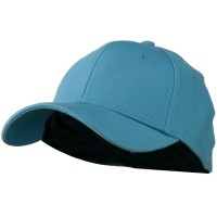 Ball Cap - Light Blue Stretch Heavy Cotton Fitted Cap