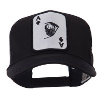 Embroidered Cap - Skull, Choppers Patched Mesh Cap | Free Shipping | e4Hats.com