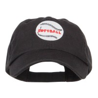 Embroidered Cap - Softball Patched Low Cap | Free Shipping | e4Hats.com
