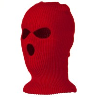 Face Mask - Red Tri Hole Ski Mask