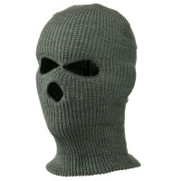 Face Mask - Grey Tri Hole Ski Mask