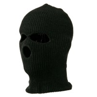 Face Mask - Charcoal Tri Hole Ski Mask