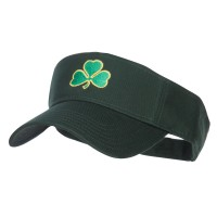 Visor - Shamrock Embroidered Sun Visor | Free Shipping | e4Hats.com