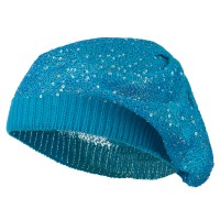 Beret - Blue Sequin Stretchable Beret