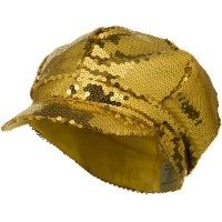 Newsboy - Gold Sequin Newsboy Cap