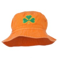 Bucket - Orange Clover Embroidered Bucket Hat
