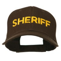 Embroidered Cap - Dark Brown Sheriff Embroidered Cap