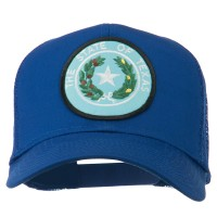 Embroidered Cap - Texas Seal Patched Mesh Cap | Free Shipping | e4Hats.com
