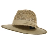 Western - Khaki Safari Shape Straw Hat
