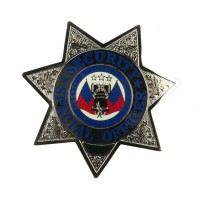 Silver Special Security Stock Metal Badges: Enforcement Cap