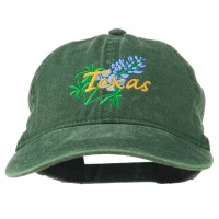 Embroidered Cap - Bluebonnet Flower Embroidered Cap | Free Shipping | e4Hats.com
