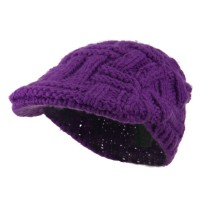 Ivy - Purple Solid Tangle Knit Ivy