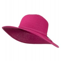 Dressy - Fuchsia Paper Braid Flat Self Tie Hat