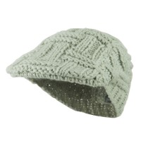 Ivy - Light Grey Solid Tangle Knit Ivy