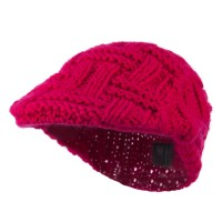 Ivy - Fuchsia Solid Tangle Knit Ivy