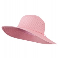 Dressy - Pink Paper Braid Flat Self Tie Hat