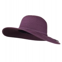 Dressy - Purple Paper Braid Flat Self Tie Hat