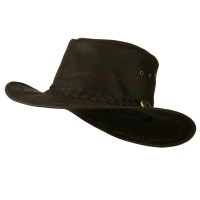 Outdoor - Brown Orange Stitching Cowboy Hat