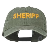 Embroidered Cap - Olive Sheriff Letter Embroidered Cap